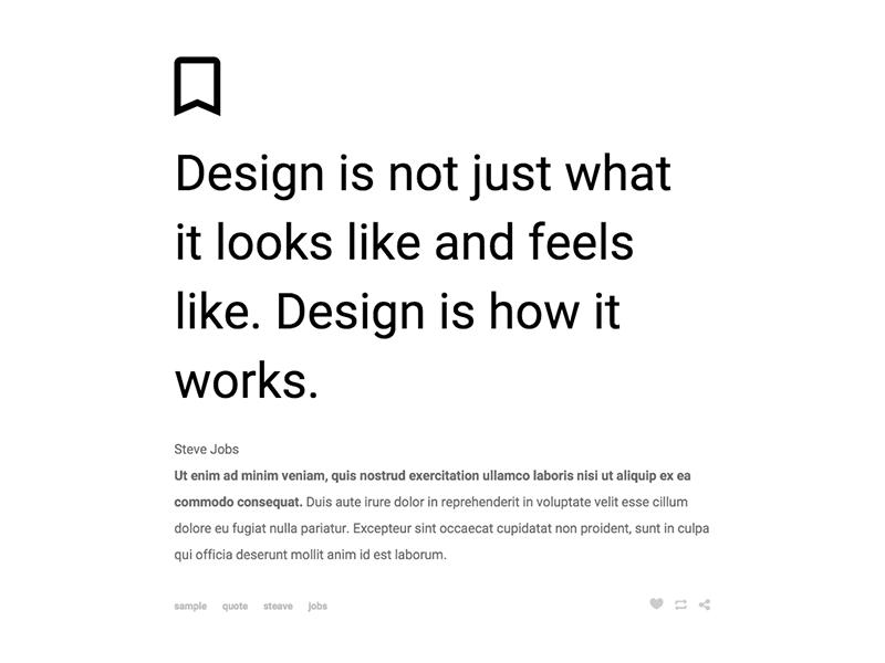 Tumblr Theme: Quote
