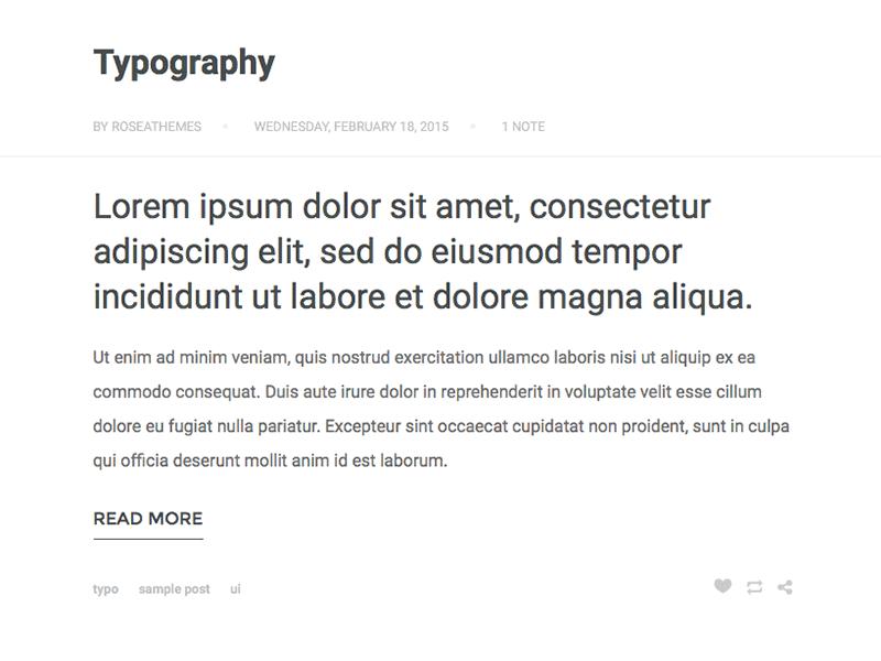 Tumblr Theme: Text