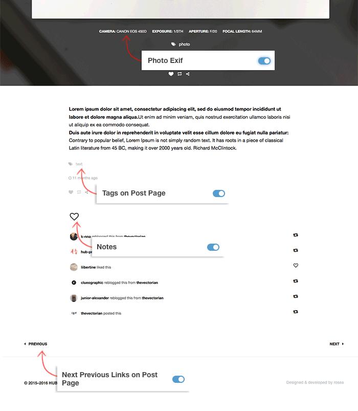 Tumblr Theme: Permalink - Customization