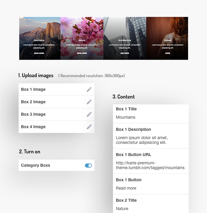 Tumblr Theme: Category Images