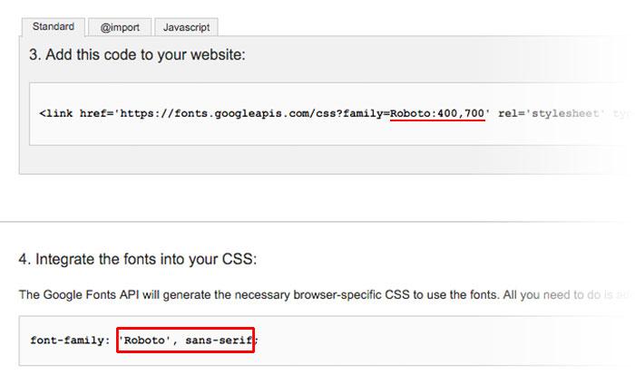 Tumblr Theme: Google Font